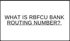 RBFCU Bank Routing Number